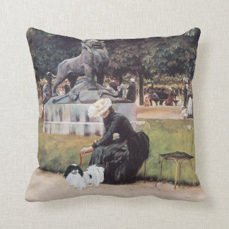 Japanese Chin in the Park Pillow