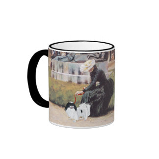Japanese Chin in the Park Ringer Coffee Mug