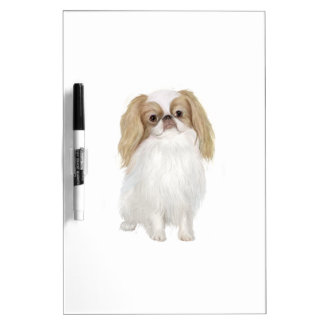 Japanese Chin (Lemon / white) Dry Erase Board