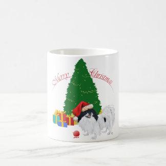 Japanese Chin Merry Christmas Coffee Mug