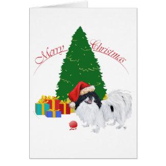 Japanese Chin Merry Christmas Greeting Card