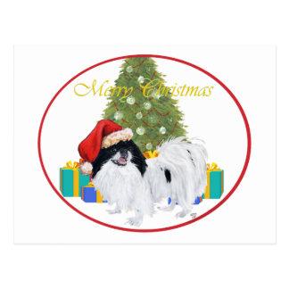 Japanese Chin Merry Christmas Postcard