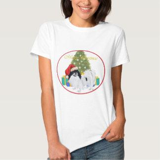 Japanese Chin Merry Christmas T Shirt