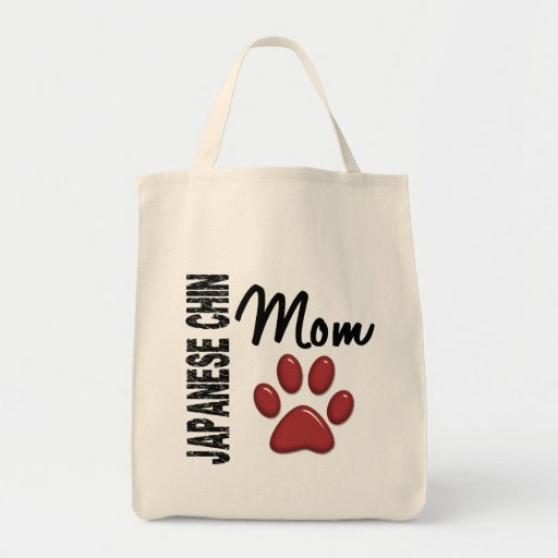 Japanese Chin Mom 2 Grocery Tote Bag