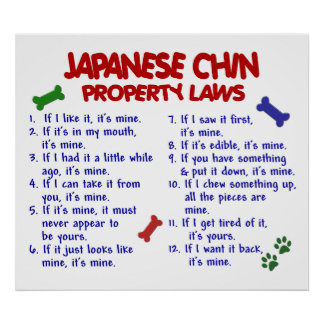 JAPANESE CHIN PL2 POSTER