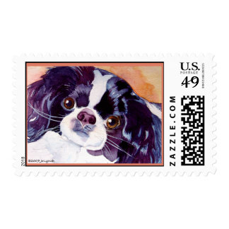 Japanese Chin Postage Stamp