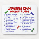 JAPANESE CHIN Property Laws 2 Mouse Mat