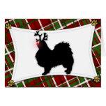 Japanese Chin Reindeer Christmas Card