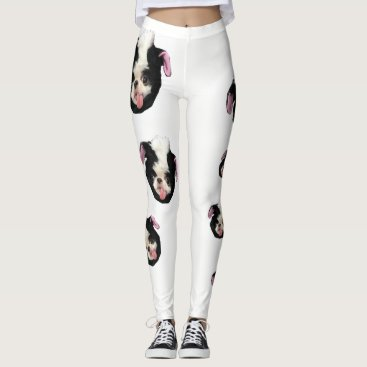 Halloween Themed Japanese Chin Skunk Leggings