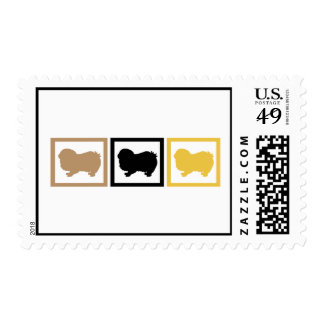Japanese Chin Squares Postage Stamps