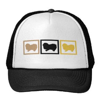 Japanese Chin Squares Trucker Hat