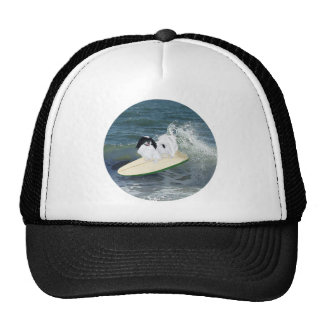 Japanese Chin Surfing Trucker Hat