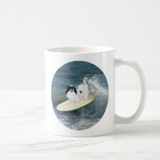 Japanese Chin Surfing Classic White Coffee Mug