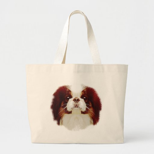 Japanese Chin Tote Bags