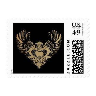 Japanese Chin Winged Heart Stamps