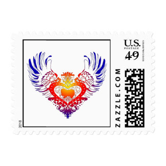 Japanese Chin Winged Heart Postage