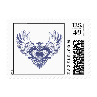 Japanese Chin Winged Heart Postage Stamps