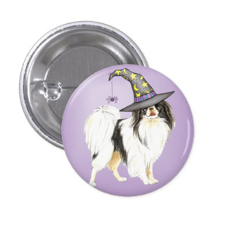Japanese Chin Witch Button