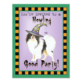 Japanese Chin Witch Card