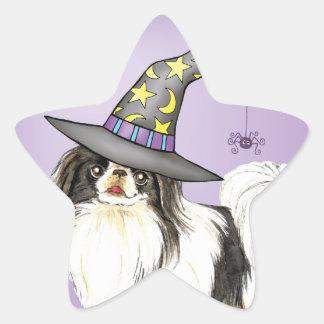 Japanese Chin Witch Star Sticker