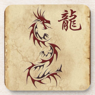Japanese Chinese Dragon Asian Art Coasters
