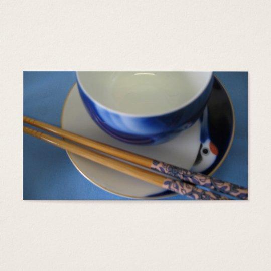 Japanese chopsticks and bowl business card