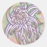 Japanese Chrysanthemums Round Sticker