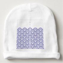"Japanese classic pattern ""SEIGAIHA "" harmony Baby Beanie"