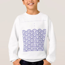 "Japanese classic pattern ""SEIGAIHA "" harmony Sweatshirt"