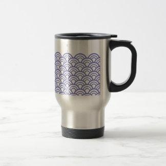 """Japanese classic pattern """"SEIGAIHA """" harmony Travel Mug"""