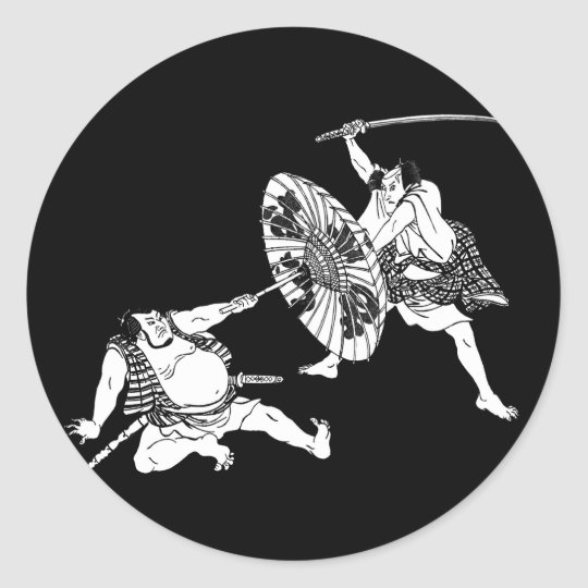Japanese Classic Round Sticker