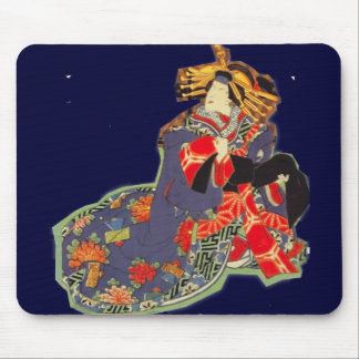 japanese classic style print mouse pad