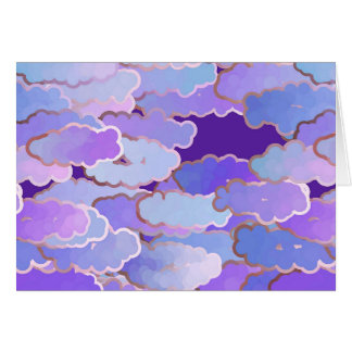 Japanese Clouds, Twilight, Violet and Deep Purple Card