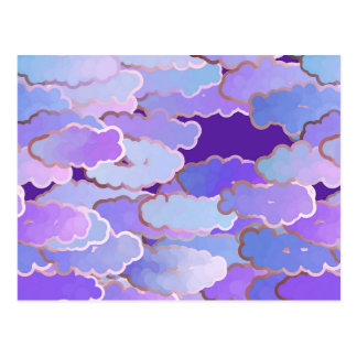 Japanese Clouds, Twilight, Violet and Deep Purple Postcard