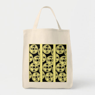 Japanese Coins Tote Bags