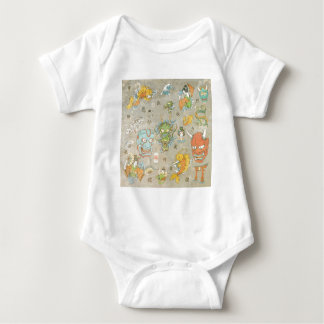 Japanese Collage Baby Bodysuit