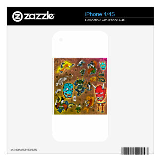 Japanese Collage Decals For iPhone 4S