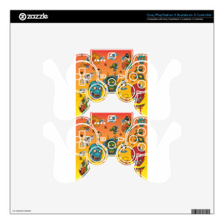 Japanese Collage PS3 Controller Decal