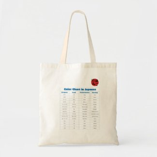 Japanese Color Chart Tote Bags