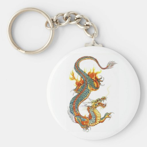 JAPANESE COLORED DRAGON KEY CHAINS
