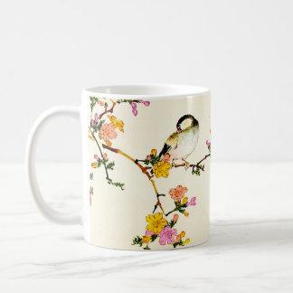 Japanese Colorful Flowers & Bird Coffee Mug