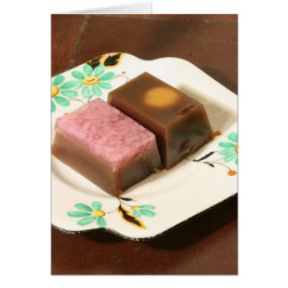 Japanese confectionery greeting card