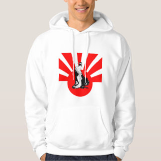 Japanese Contemplation Thinking of You Hoodie