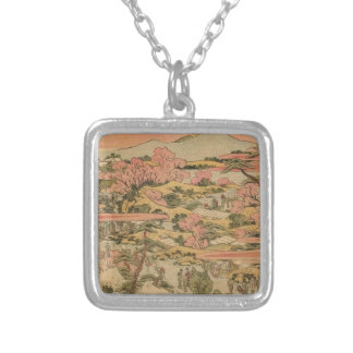 Japanese Countryside Silver Plated Necklace