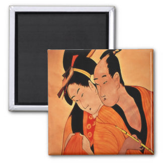Japanese Couple fridge magnets