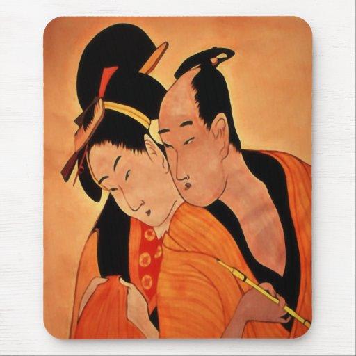 Japanese Couple mousepads