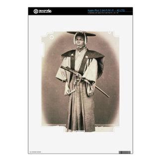 Japanese Court Official or Samurai, c.1870s (hand- iPad 3 Skin