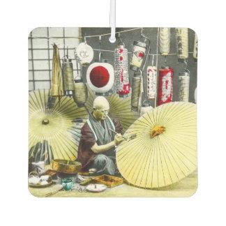 Japanese Craftsman Umbrella Maker No. 2 Vintage Car Air Freshener