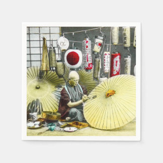 Japanese Craftsman Umbrella Maker No. 2 Vintage Napkin