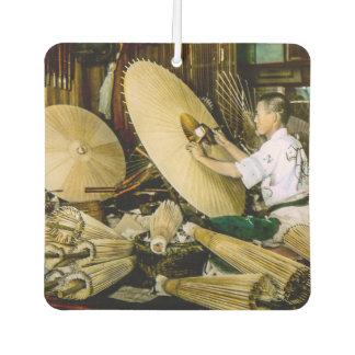 Japanese Craftsman Umbrella Maker Vintage Japan Air Freshener
